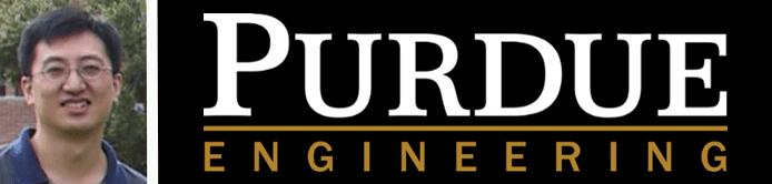 Y. Charlie Hu's headshot and the Purdue Engineering logo
