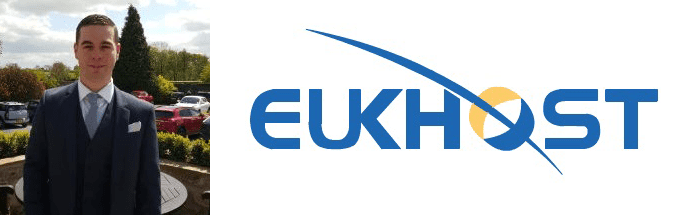 Robert King's headshot and the eUKhost logo