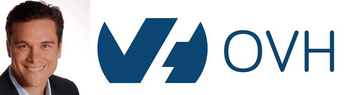 Russ Reeder's headshot and the OVH logo