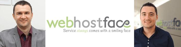 Hristo Genov and Valentin Sharlanov's headshots and the WebHostFace logo