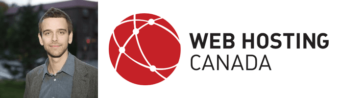 Emil Falcon's headshot and the Web Hosting Canada logo