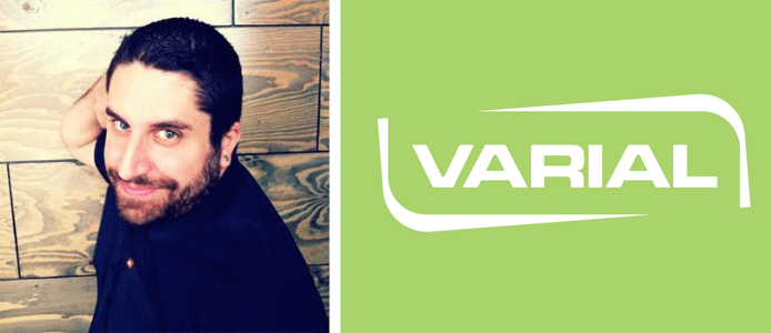 Ryan Smith's headshot and the Varial Hosting logo