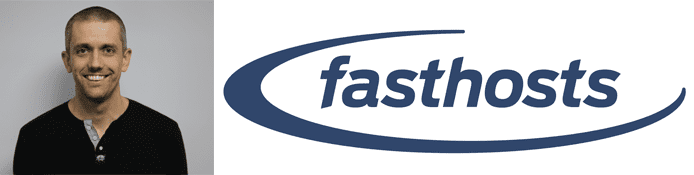 John Brownbill's headshot and the fasthosts logo