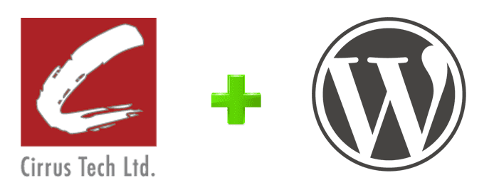 The Cirrus Tech and WordPress logos