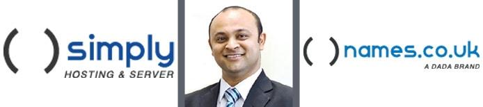 Image of Abhinav Mathur with Namesco and Simply logos