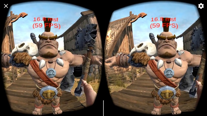 Screenshot of Viking Village VR quality example