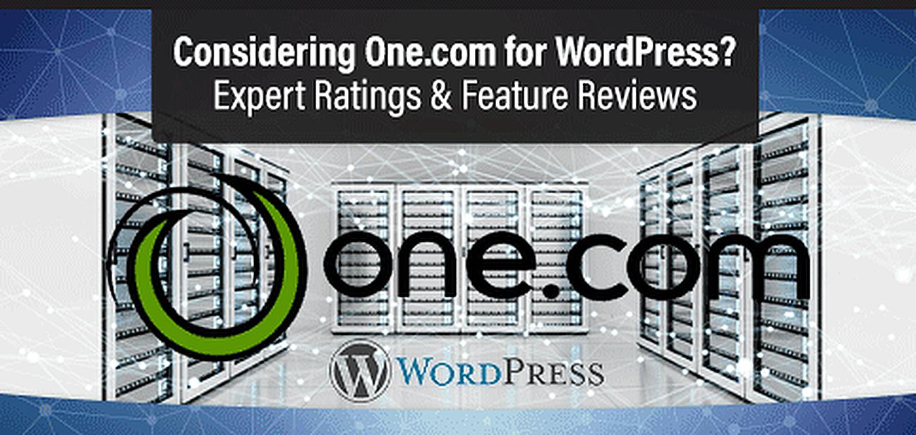 One.com WordPress Hosting Review Graphic
