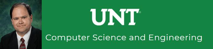 Barrett Bryant's headshot and the UNT CSE logo