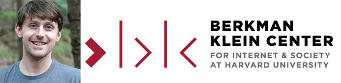 Daniel Jones's headshot and the Berkman Klein Center logo