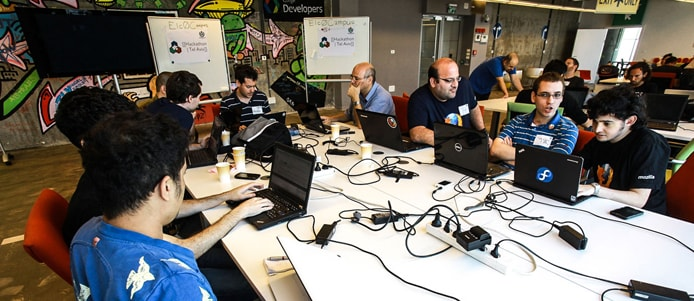 Photo of OIN developers collaborating