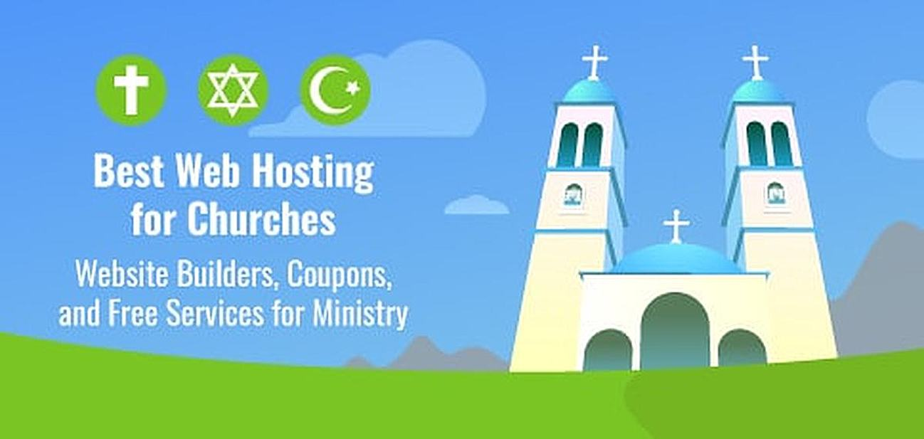 Best Web Hosting for Churches Graphic