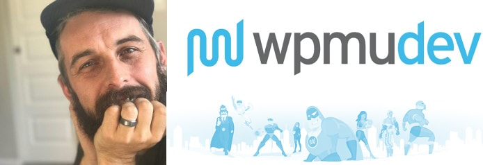 Image of Joshua Dailey with WPMU DEV logo and mascots