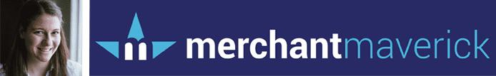 Liz Hull's headshot and the Merchant Maverick logo