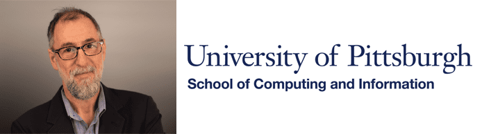 Dean Paul Cohen's headshot and the U Pill School of Computing and Information logo