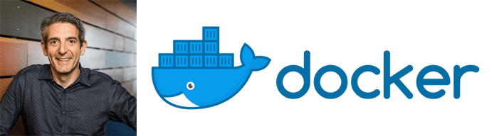 David Messina's headshot and the Docker logo