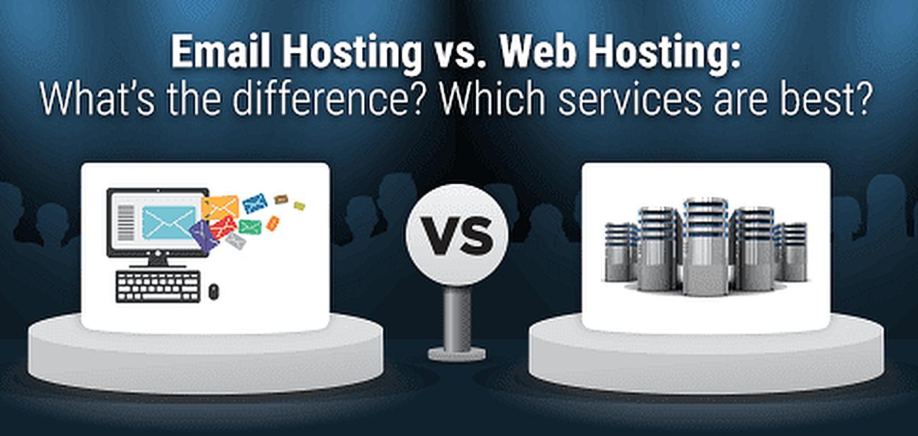 Email Hosting vs. Web Hosting Graphic