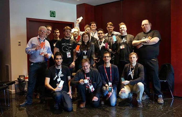 Photo of Jolla's Sailfish developers