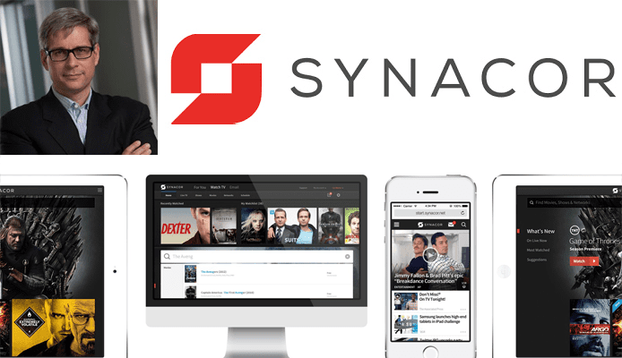 Image of Matthew Wolfrom with Synacor logo and devices showing TV Everywhere experiences