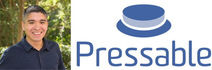 Image of Roberto Villarreal next to the Pressable logo