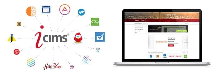 Screenshot of iCIMS UNIFi marketplace