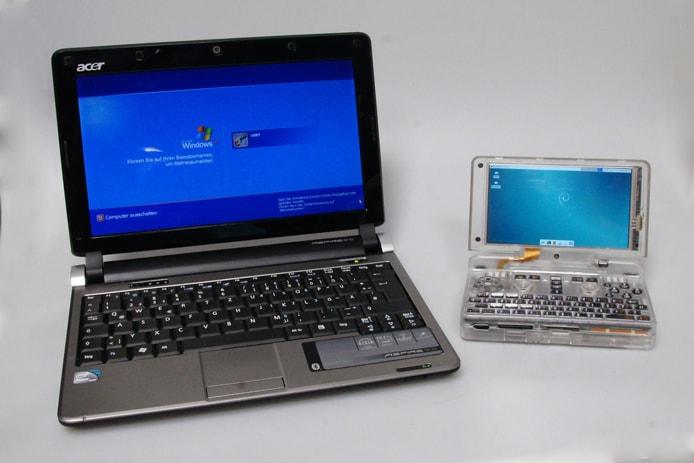 Photo of Pyra next to a laptop