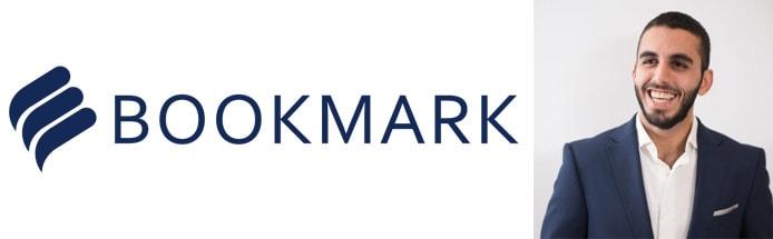 Image of Naser Alubaidi and Bookmark logo