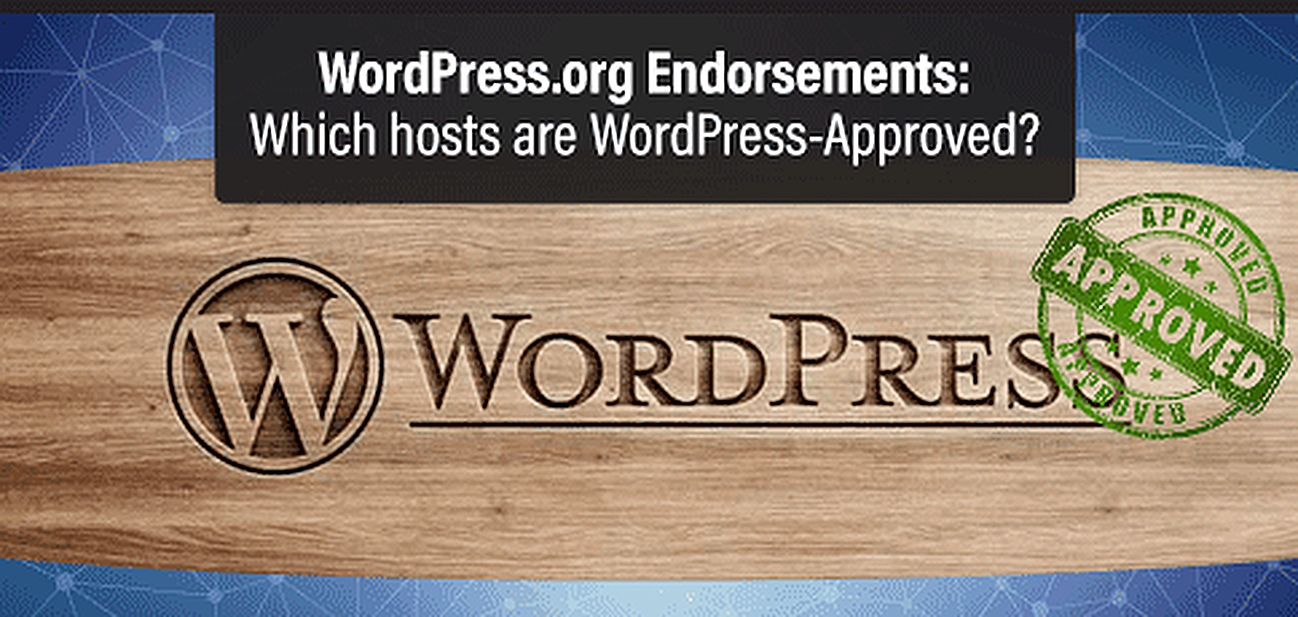 WordPress-approved hosts graphic