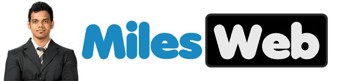 Deepak Kori's headshot and the MilesWeb logo