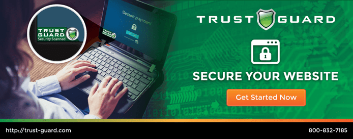 Graphic showing a user accessing a Trust Guard protected site