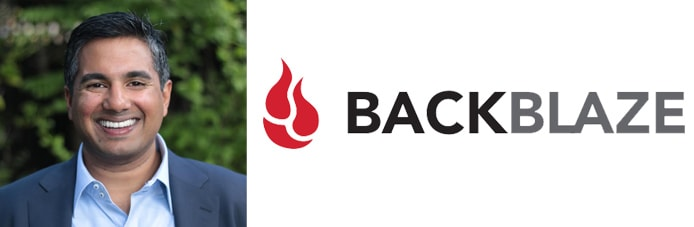 Image of Ahin Thomas and the Backblaze logo