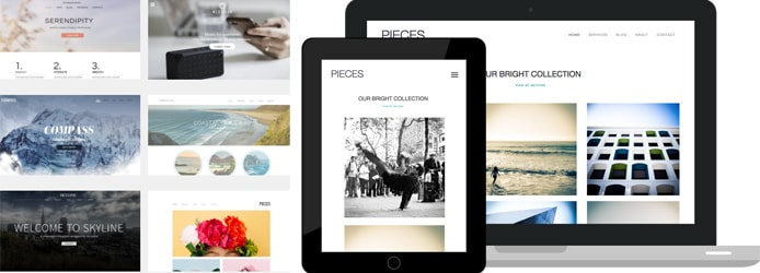 Images of Dynadot's website builder and templates
