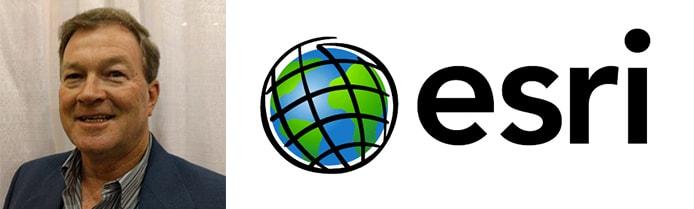 Image of John Parker and Esri logo