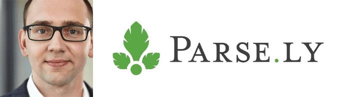 Daniel Banta's headshot and the Parse.ly logo