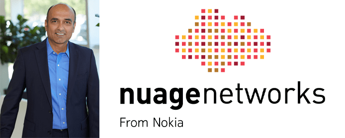 Photo of Sunil Khandekar and the Nuage Networks logo