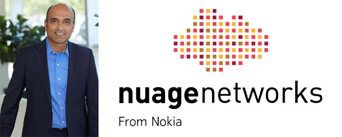 Photo of Sunil Khandekar and the Nuage Networks logo