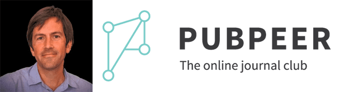 Brandon Stell's headshot and the PubPeer logo