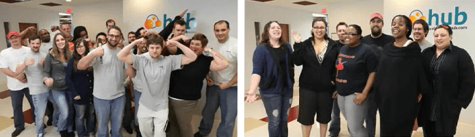 Collage of photos of the WebHostingHub team