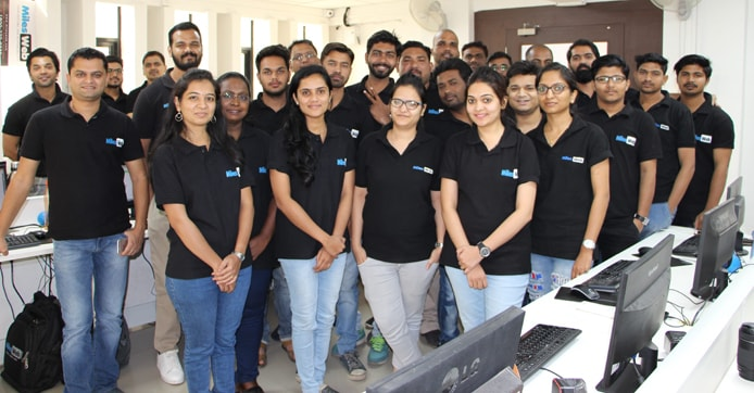 Photo of the MilesWeb team