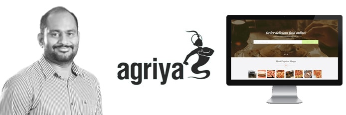 Image of Aravind Kumar with Agriya logo and image of software