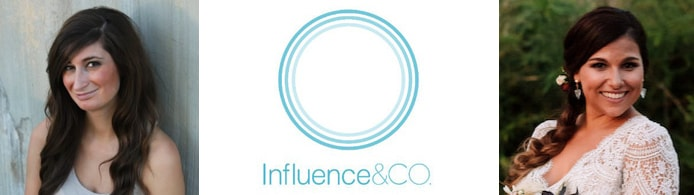Images of Taylor Oster and Natalie Slyman with the Influence and Co. logo