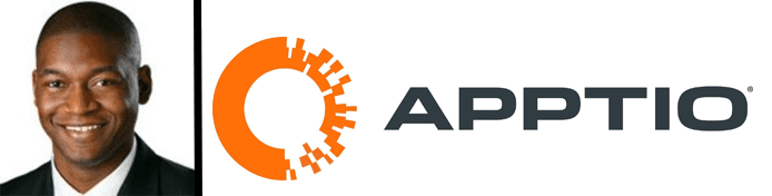 Jarod Greene's headshot and the Apptio logo