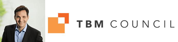 Chris Pick's headshot and the TBM Council logo