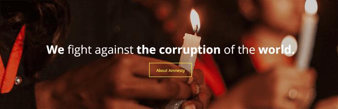 Screenshot from Amnesty International Korea's website