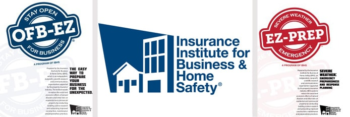 IBHS logo with OFB-EZ and EZ-PREP documents