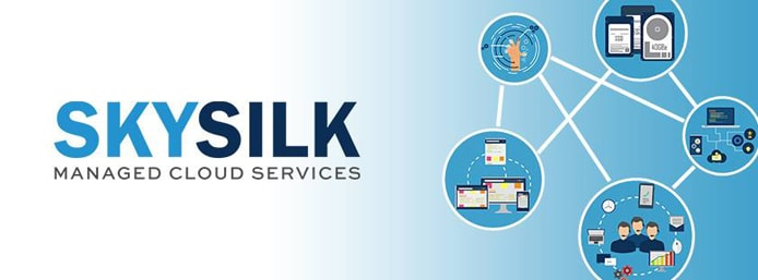 Graphic depicting the interconnectivity of SkySilk's IaaS