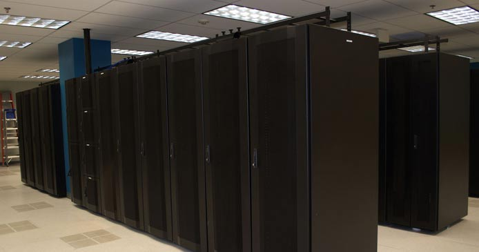 Photo inside a Psychz Networks datacenter