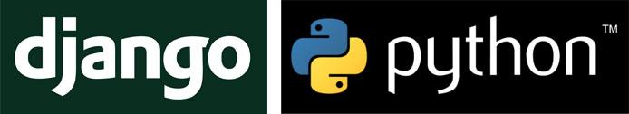 Django and Python logos