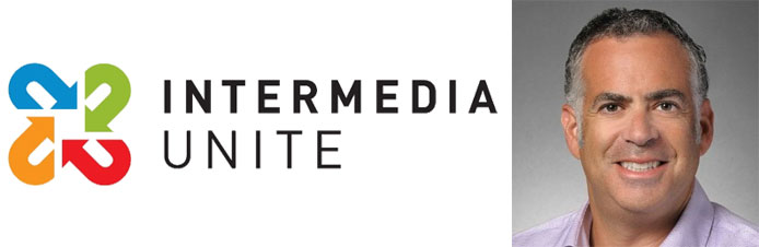 Intermedia Unite logo and image of Mark Sher
