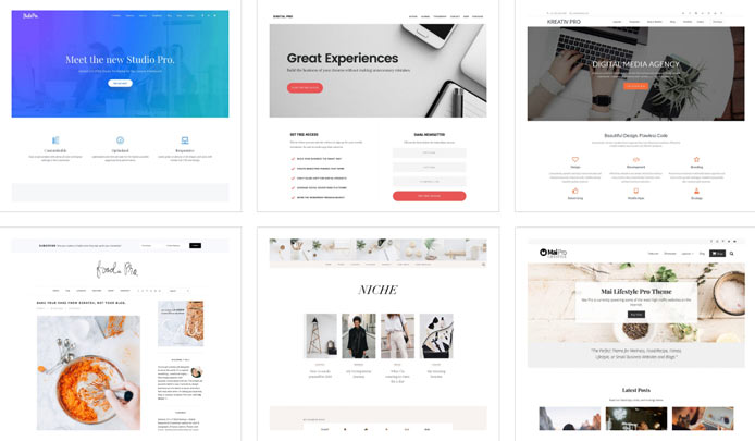 Images of StudioPress themes