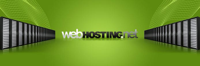 Illustration of servers with Webhosting.net logo